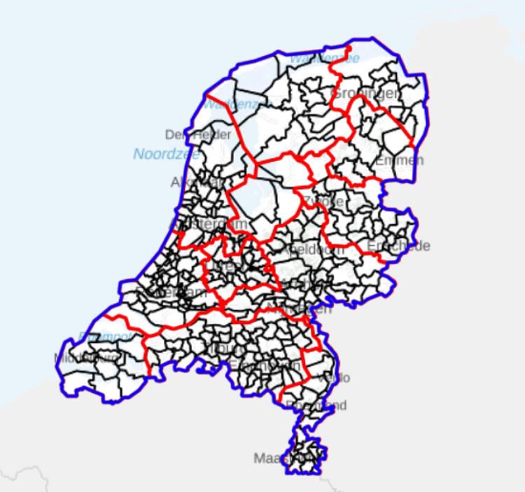 Grenzen Niederlande